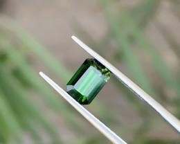 1.75 Ct Natural Green Transparent Tourmaline Ring Size Gemstone