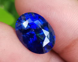 TOP QUALITY 8.48 CTS NATURAL STUNNING ROYAL BLUE SAPPHIRE SRI LANKA