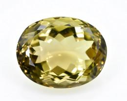 13.42 Crt Lemon Quartz Faceted Gemstone (Rk-73)