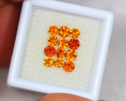 2.52Ct Natural Hessonite Garnet Round Cut Mix Size Lot A864