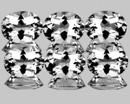 8x6 mm Oval 6 pcs 9.24cts White Topaz [VVS]