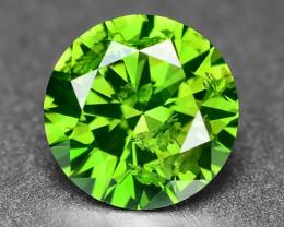 0.49Sparkling Rare Fancy Intense Green Color Natural Loose Diamond