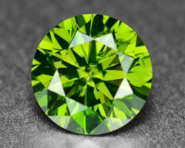 0.58 Sparkling Rare Fancy Intense Green Color Natural Loose Diamond