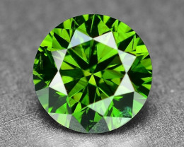 0.50 Sparkling Rare Fancy Intense Green Color Natural Loose Diamond