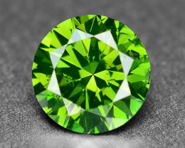 0.50 Sparkling Rare Fancy Intense Green Color Natural Loose Diamond