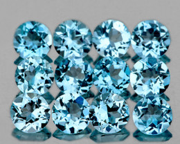 4.50 mm Round 12 pcs 5.18cts Sky Blue Topaz [VVS]