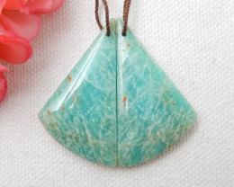 40cts Handmade Earrings ,Gemstone Earrings ,Natural Amazonite Earrings F62