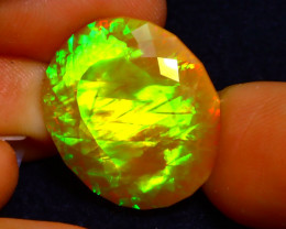 Welo Opal 11.55Ct Natural Ethiopian Play of Color Opal DN34
