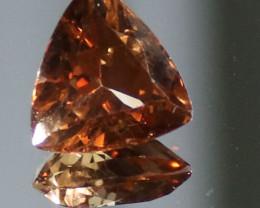 Imperial Topaz 5.65ct Natural Untreated Triangular VVS Clarity November Bir