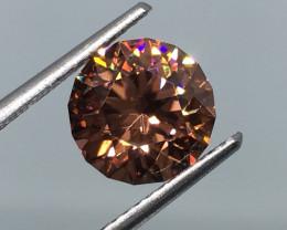 3.33 Carat VVS Zircon Master Cut Incredible Flash Rare !