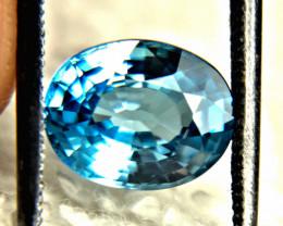 3.56 Carat Southeast Asian Blue VVS Zircon - Gorgeous