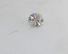 0.18ct White  Diamond , 100% Natural Untreate