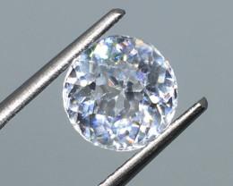 3.25 Carat VVS Zircon - Diamond White Color Precision Cut !