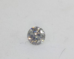 0.21ct White  Diamond , 100% Natural Untreate