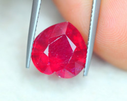 6.93ct Blood Red Color Ruby Heart Cut Lot P209