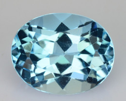 3.14 Cts Natural Sky Blue Topaz 10x8mm Oval Cut Brazil