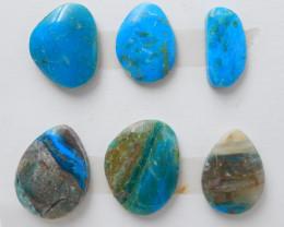 46cts Blue Opal Cabochons, October Birthstone, Blue Opal Bead F66