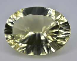 9.11 Crt Lemon Quartz Faceted Gemstone (Rk-74)
