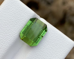4.50 carats Green colour Tourmaline Gemstone From Afghanistan