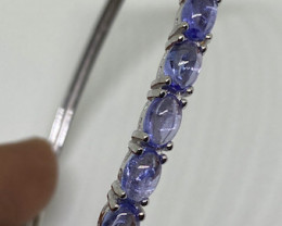 (3 ) Beautiful Nat 11.58tcw. Top Rich  Blue Violet Tanzanite Bangle.