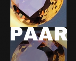 PAAR -  ANDALUSITE PAAR- AAA - VVS