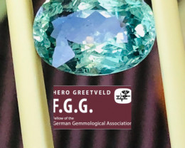 GGA-  4.41CT APATITE FROM BRASIL - Top Color !!