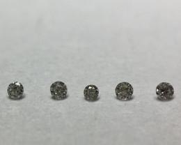 0.03 ct 6 x 0.005 ct full cut H-M VVS-SI diamonds