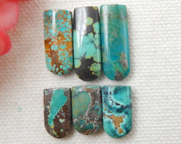 33cts 6pcs Turquoise Cabochons ,Handmade Gemstone ,Turquoise Cabochons F53