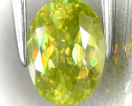 A  LIME GREEN GOLD SPHENE - NO RESERVE!
