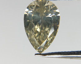 Pear Brilliant Cut Diamond , Yellow diamond , 0.72 cts