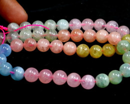 266.30 Cts Unheated ~ Natural Multi Color Beryl Beads