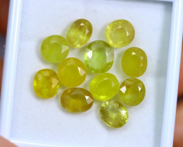 31.43cts Yellow Colour Sapphire Lots / RD318