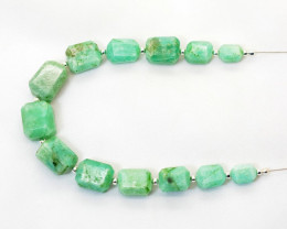 105 CT Beautiful Amazonite Drilled Faceted Beads@Pakistan_IM 205