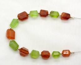 70 CT  Hessonite Garnet & Peridot Drilled Fecated Beads@Pakistan_IM 126
