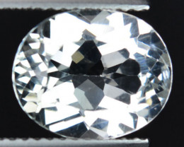 Unheated!!  4.17 Cts Natural White Topaz 11x9mm Oval Brazil