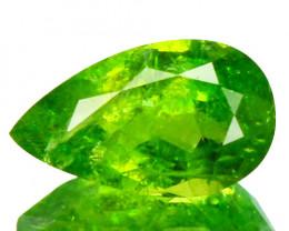 Radium Green!!! 1.16 Cts Natural Grossular Garnet Pear Cut Russia