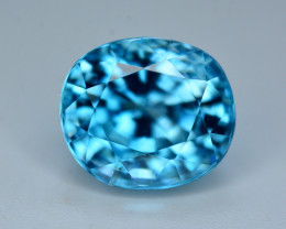 Vibrant Blue ~ 6.35 Ct Natural Zircon From Cambodia
