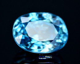 Vibrant Blue ~ 7.40 Ct Natural Zircon From Cambodia