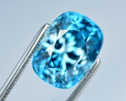 Vibrant Blue ~ 10.20 Ct Natural Zircon From Cambodia