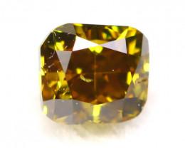 Chameleon Diamond 2.56mm Natural Untreated Yellow Green Diamond C0305