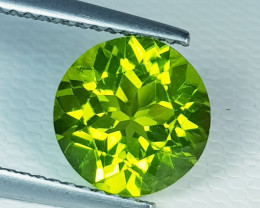 3.28 ct Excellent Gem Awesome Round Cut Top Luster Natural Peridot
