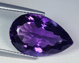 8.46 ct AAA Quality Gem  Pear Cut Natural Purple Amethyst