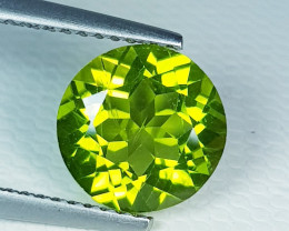 2.95 ct Excellent Gem  Round Cut Top Luster Natural Peridot