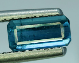 NR Auction 1.25 CT Top Quality Indicolite Tourmaline Natural Gemstone