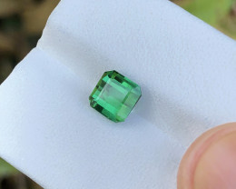 1.80 Ct Natural Green Transparent Tourmaline Ring Size Gemstone