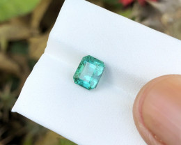 2.15 Ct Natural Blueish Transparent Tourmaline Gemstone