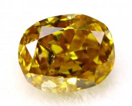 Yellow Diamond 2.83mm Natural Fancy Brownish Yellow Diamond B0403
