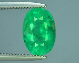 Top Color & Clarity 1.75 ct Panjshir Emerald~Afghanistan