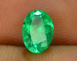 Top Color & Clarity 0.85 ct Panjshir Emerald~Afghanistan