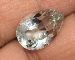 7.67 Carat VVS Topaz Soft Blue Pear Brazilian Beauty!